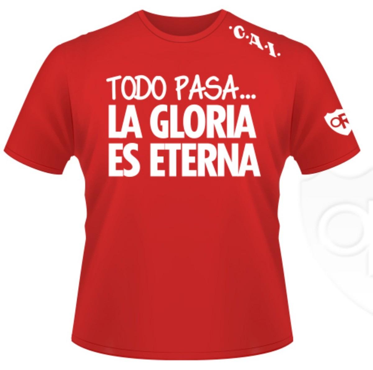 """Remeras Populares """"La gloria es eterna"""""""