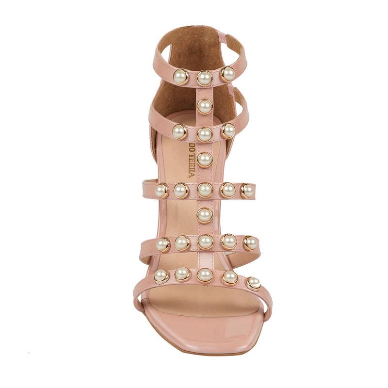 Sanadalia tacón rosa con perlas  016487