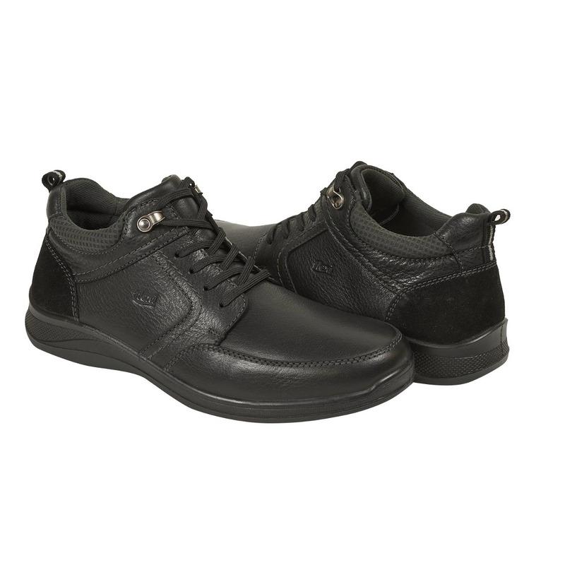 Zapato Flexi negro agujetas F92404