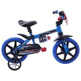 Bicicleta Infantil Aro 12 Nathor Veloz Masculino Azul/Preto