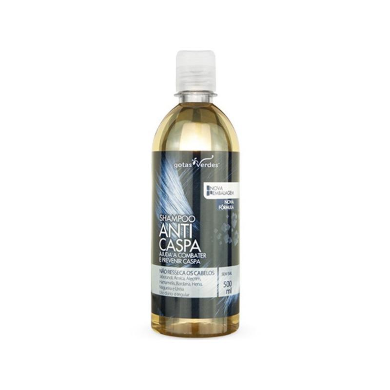Shampoo Anticaspa Sem Sal - 500ml Gotas Verdes