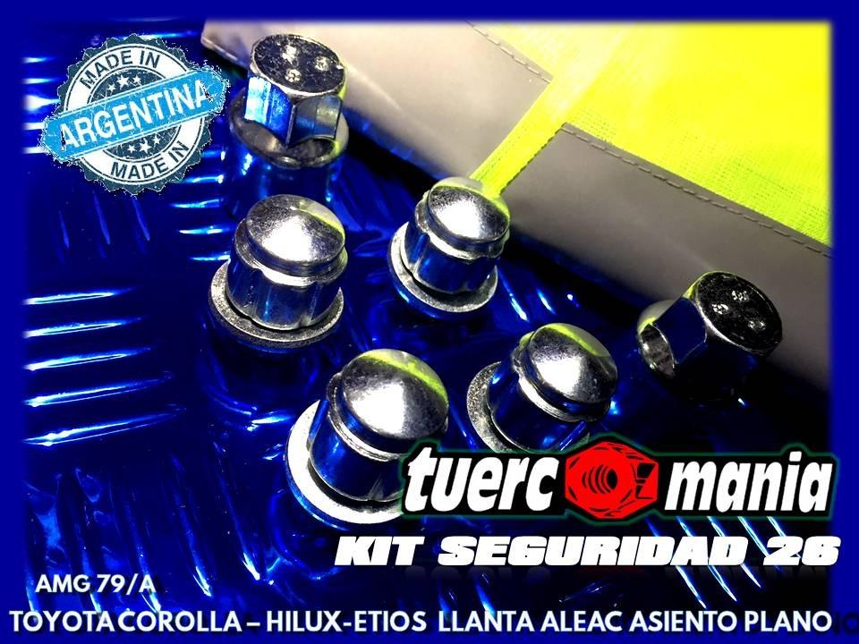 Tuerca Antirrobo Corolla Hilux Etios Aleacion Kit 26