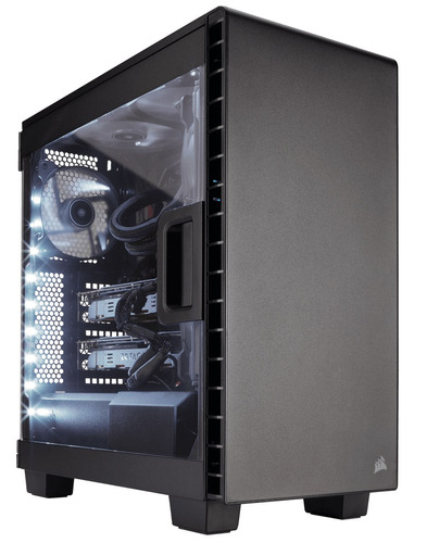 Gabinete Pc Gamer Corsair Carbide Clear 400c Compacto Acero