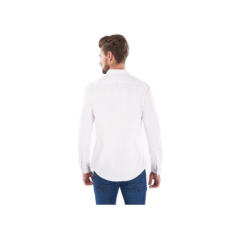 Camisa blanca manga larga 014617