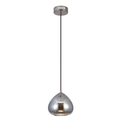 Lámpara Colgante Epich Wide Vidrio Led 5w Cromo Deco Lk