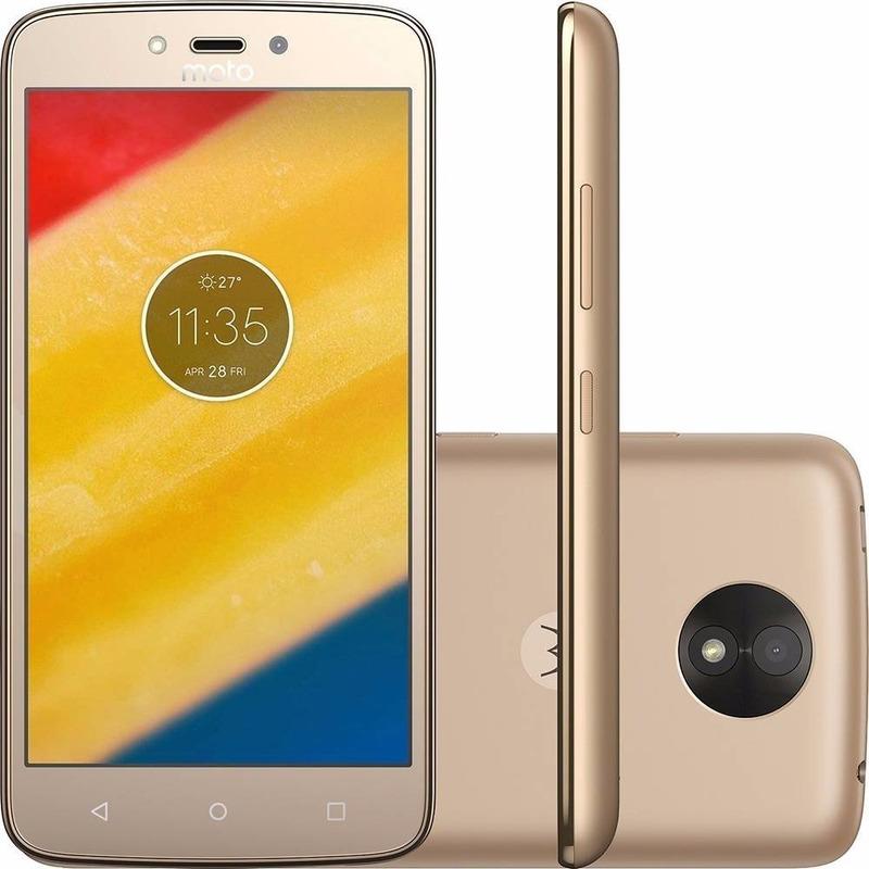"Smartphone Motorola Moto C Plus Mediatek Mt6737 4g 5"" Dorado"