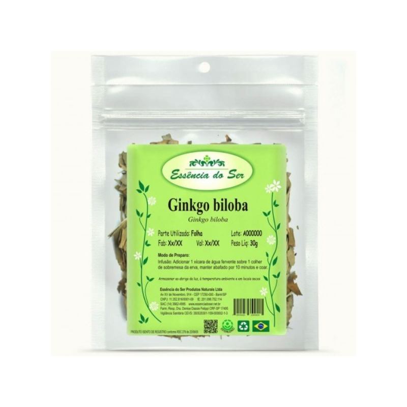 Cha de Ginkgo Biloba - 30g - Essencia do Ser