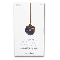 Drageados de Acai com Chocolate 70% Cacau - 50g - Nutrawell