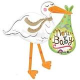globo cigueña new baby desinflado apto helio