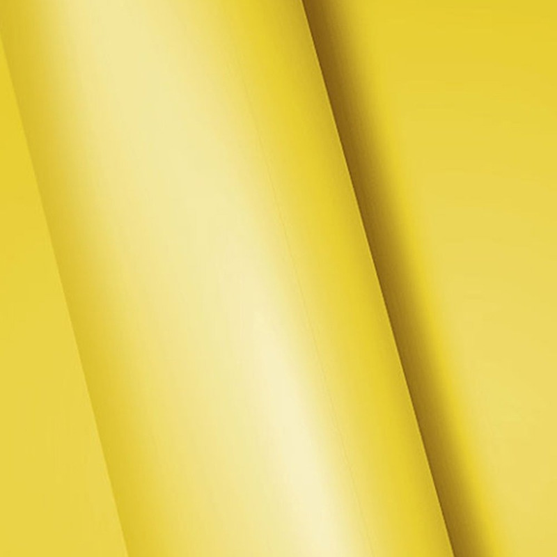 Adesivo para envelopamento fosco amarelo  larg. 1,38 m