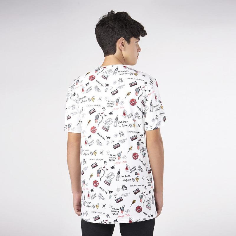 Camisa Blanca Con Estampado 019479
