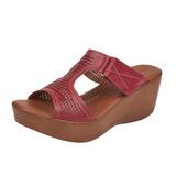 Sandalia plataforma vino 016600