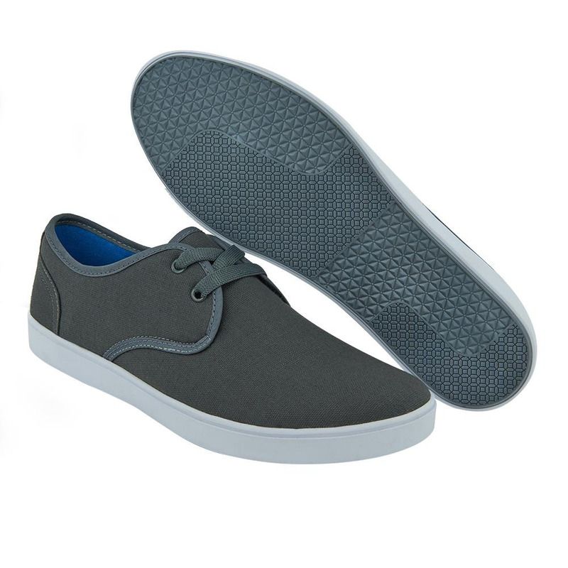 Sneakers Grises Con Detalle Blanco 017611