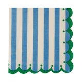 Servilletas Stripe azul