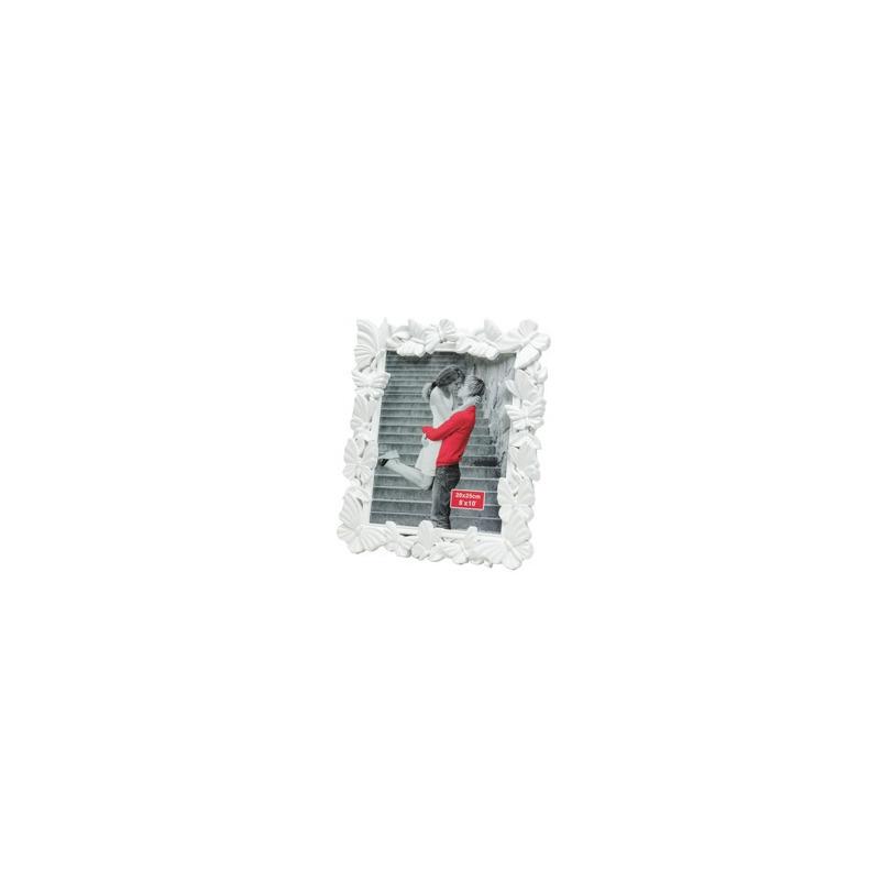 Porta Retrato de Plástico Fly Branco 20X25Cm