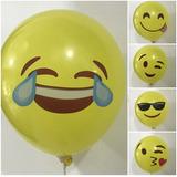globo emoticon emoji 5 unidades desinflado 12 pulgadas apto helio