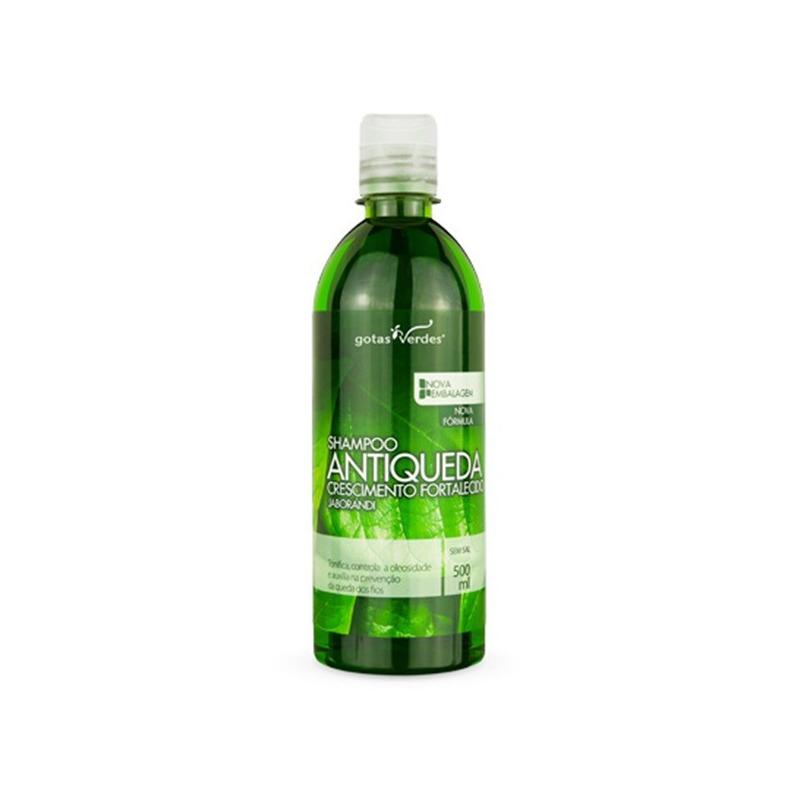 Shampoo Antiqueda Extrato de Jaborandi - 500ml Gotas Verdes