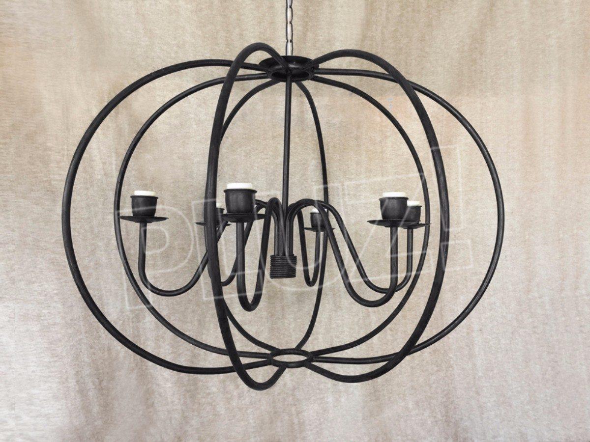 Lámpara Colgante Araña Globo Grande 6 luces...
