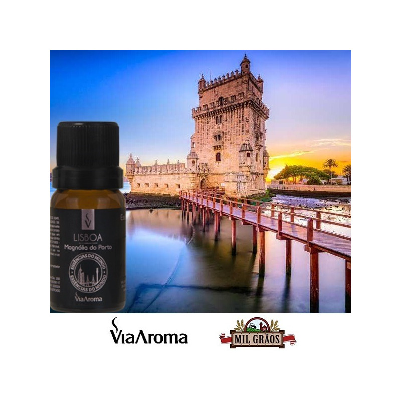 Essencia Cidades Mundo Lisboa Magnolia Porto 10ml Via Aroma
