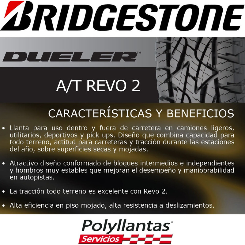 225-65 R17 102T Dueler At Revo 2  Bridgestone DESCONTINUADA