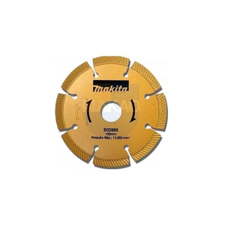 """Disco Diamantado 105 mm (4.1/8"""") Segmentado - Makita - B-02886"""