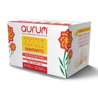Biscoito de Arroz com Tapioca Amaranto Sal Rosa - 45g Aurum