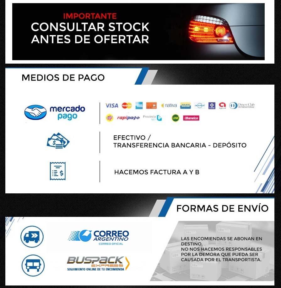 JUEGO OPTICAS FAROS DELA ECOSPORT 03/12 TYC BRASIL