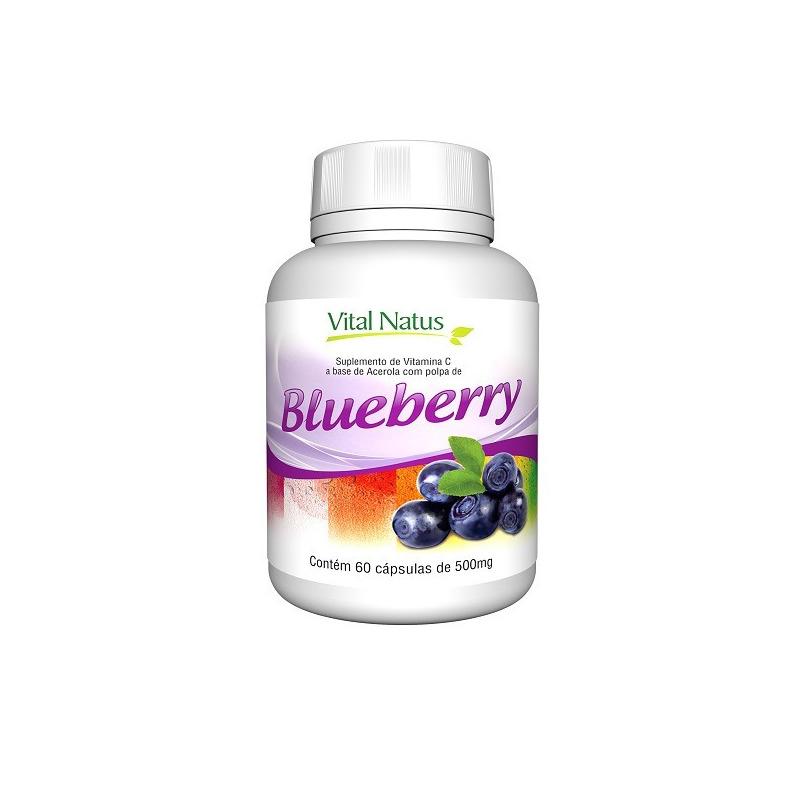 Blueberry - 60 Capsulas de 500mg - Vital Natus
