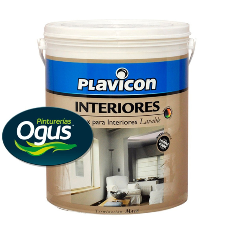 PLAVICON LATEX INTERIOR MATE LAVABLE 4 LTS OGUS