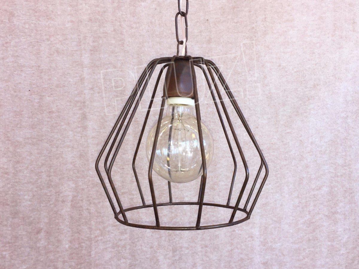Lámpara Colgante Diamante Mini - Hierro Óxido
