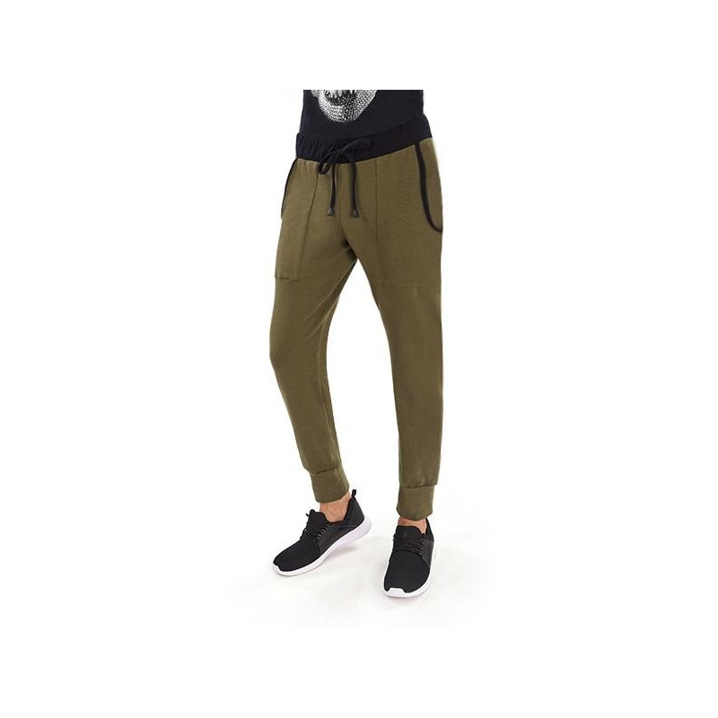 Pantalón deportivo verde olivo 014640