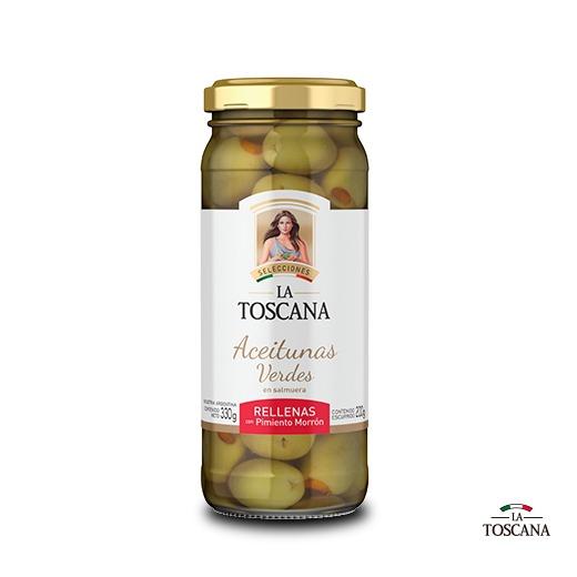 Cuenco de regalo, 4 aceitunas y 4 conservas La Toscana