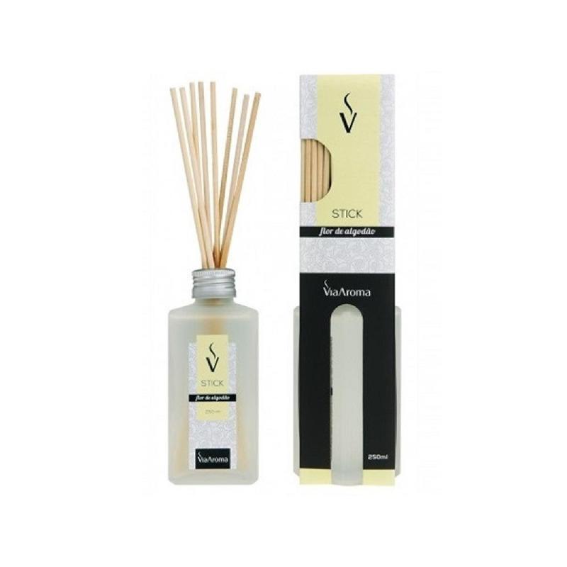 Aromatizador de Stick Flor de Algodao - 250ml - Via Aroma