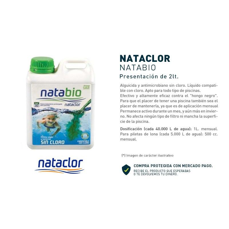 Natabio Alguicida Liquido Para Pileta 2lt Nataclor OGUS