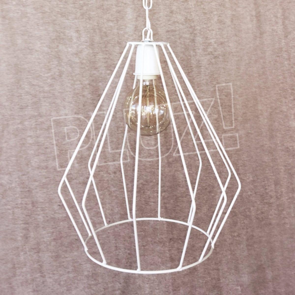 Lámpara Colgante Diamante Mediana - Jaula Hierro B...