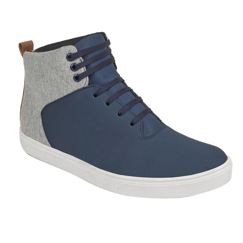 Sneakers azules textura gris 018864