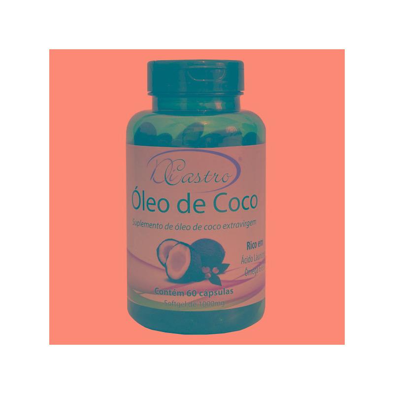 Oleo de Coco Extra Virgem - 60 Caps./1000mg - DiCastro