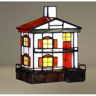 Lampara De Mesa Velador Tiffany Casa Apto Led