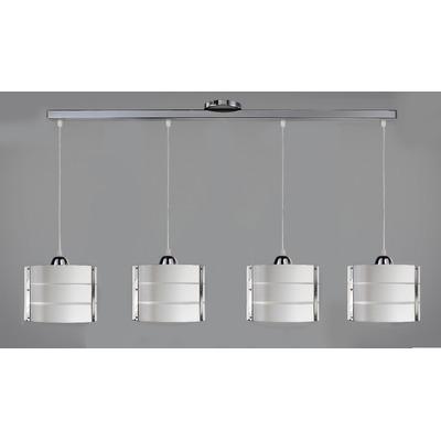 Velador Simil Madera Blanco Cromo Apto Led Deco Moderno
