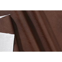 Tecido couro sintético fit enzo chocolate rennes