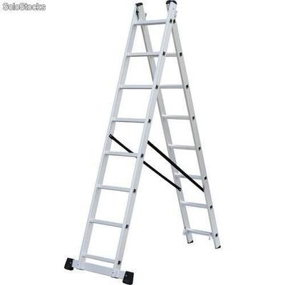 Escalera extensible de aluminio 20 escalones 4 48mt 2 for Precio escalera aluminio extensible