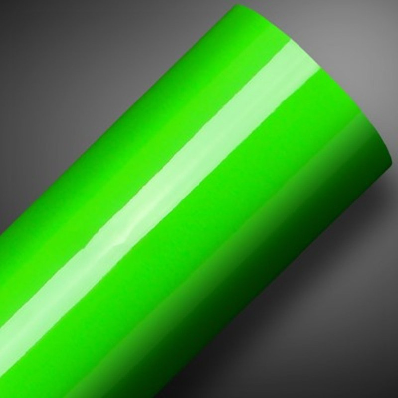Adesivo brilho ultra envelopamento automotivo verde apple larg. 1,38 m