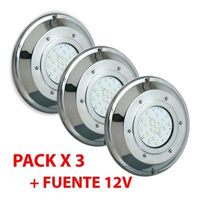 X3 Subacuatico Piscina Pileta Led Rgb Control Con Fuente