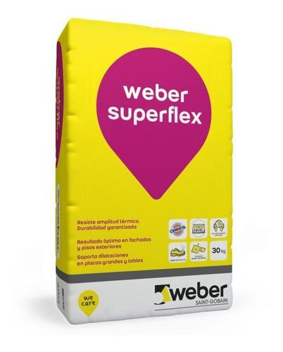 Pegamento Weber Superflex X 30 Losa Radiante Piso Sobre Piso