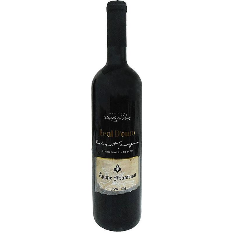 Vinho Tinto Seco Cabernet Sauvignon 750ml (Ágape Fraternal) - Real D'Ouro