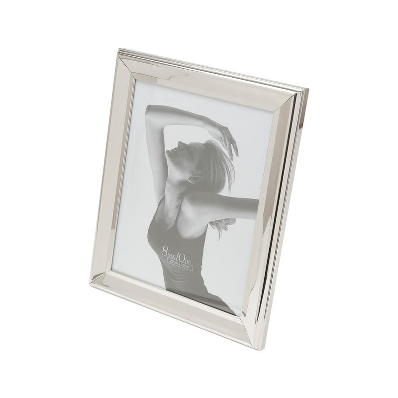 Porta Retrato De Aço Prateado 20X25 Cm 3107918