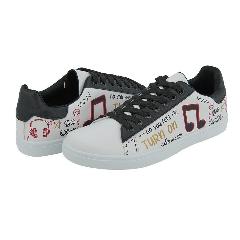 Sneakers Blanco Con Negro 017665