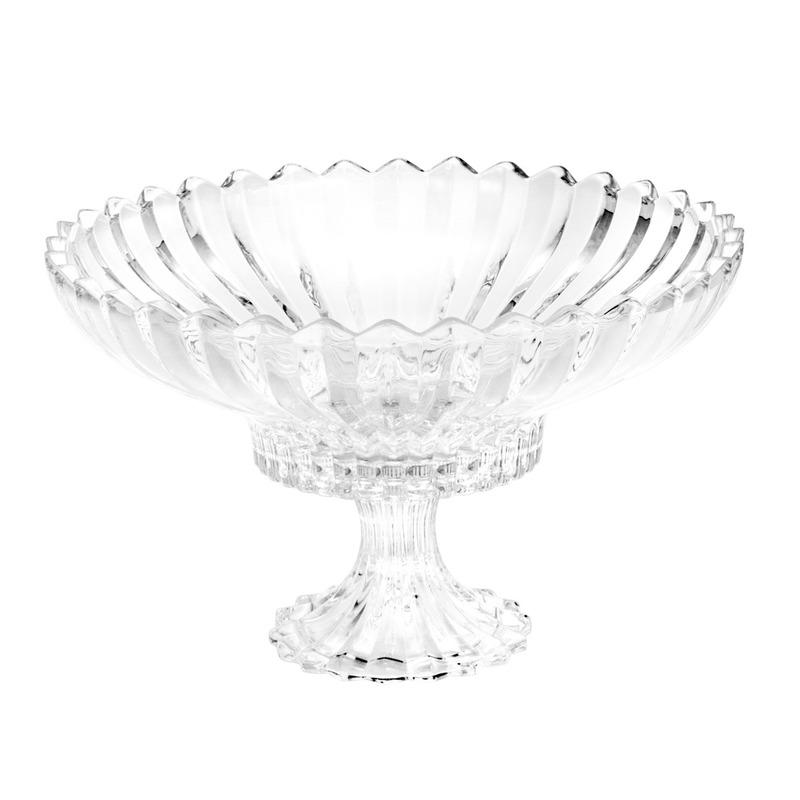 Fruteira De Cristal com Pé Geneva - Wolff 31025527