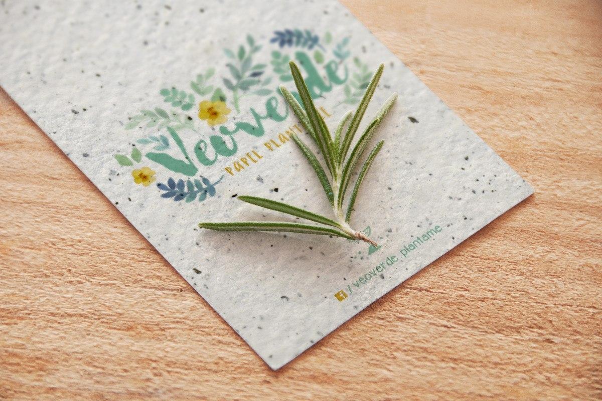 100 Tarjetas Personales Papel Plantable Reciclado 9x5 o 7...