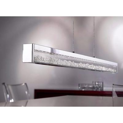 Colgante Led Cromo Cristal 32w Touch 3 Tonos De Luz Eglo